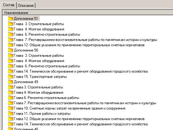 Номера дополнений в составе поискового маршрута