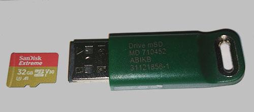 Ключ защиты и карта памяти